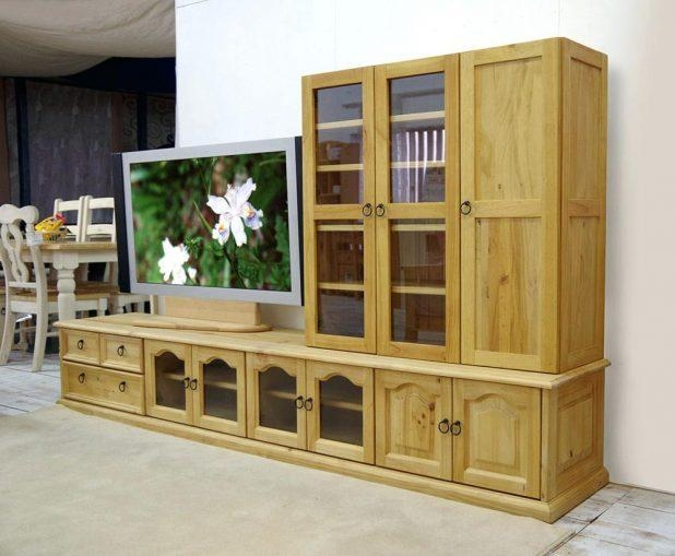 Tv Stand: Amazing Solid Pine Tv Stand Design (Image 19 of 20)