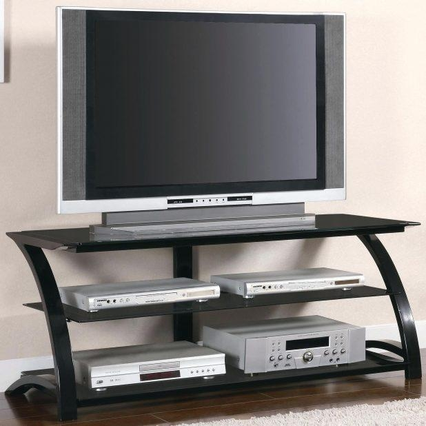 Tv Stand: Amazing Tv Stand Glass Shelves Design Ideas (View 15 of 20)