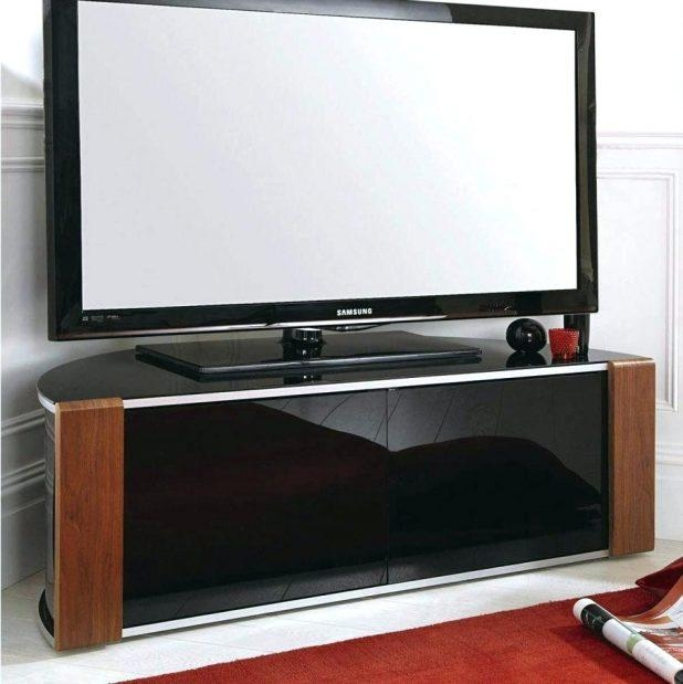 Tv Stand : Black Glass And Metal Corner Tv Stand For Tvs Up To 50 Intended For Most Recent Tv Stands For Large Tvs (Image 13 of 20)
