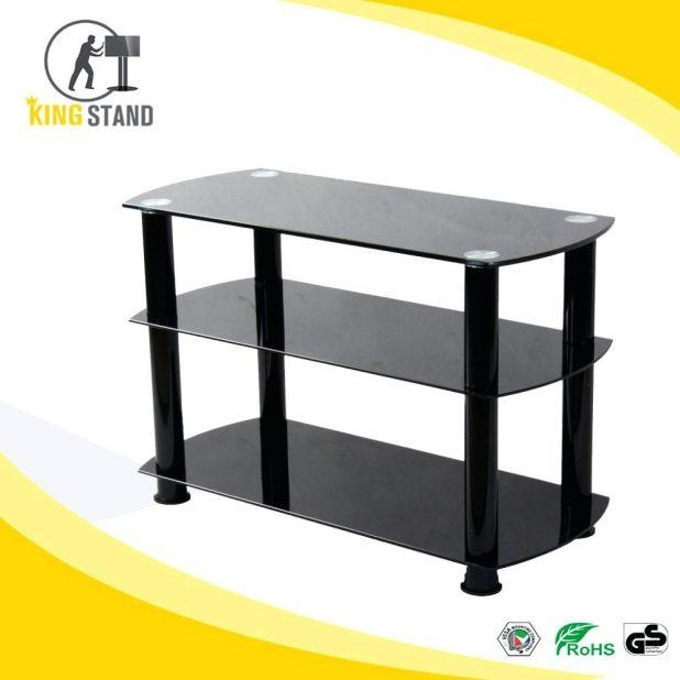 Tv Stand : Black Glass Tv Stands Wondrous Black Glass Tv Stands Pertaining To Most Recently Released Oval Glass Tv Stands (Image 17 of 20)