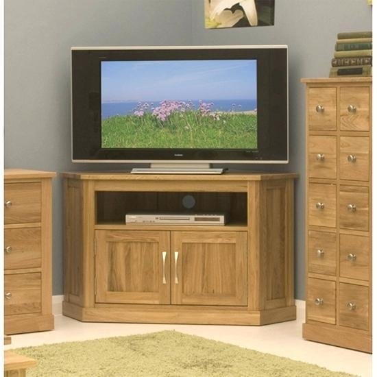 Tv Stand ~ Bordeaux Oak Corner Tv Stand Solid Oak Corner Tv Stands Within Most Current Oak Effect Corner Tv Stand (Image 13 of 20)