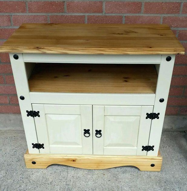 Tv Stand : Bourdeilles Solid Mango Shabby Chic Corner Tv Unit For Latest Shabby Chic Tv Cabinets (Image 18 of 20)