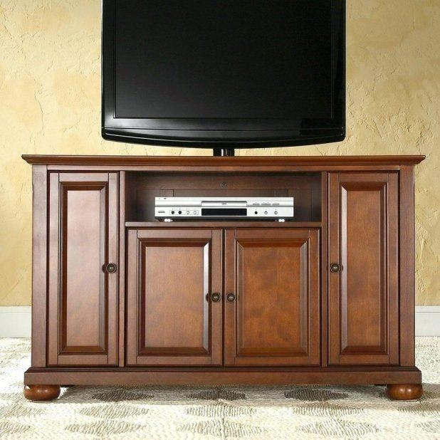 Tv Stand : Cherry Wood Corner Tv Stands Flat Screens Impressive With Regard To Most Recent Cherry Wood Tv Cabinets (Image 13 of 20)