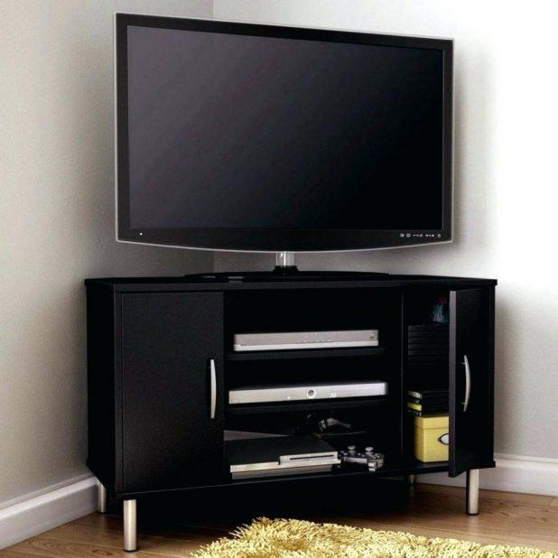 Tv Stand : Chocolate Oak 46 Corner Tv Stand 81286 11 Furniture Within Latest Corner Tv Stands For 46 Inch Flat Screen (Image 14 of 20)