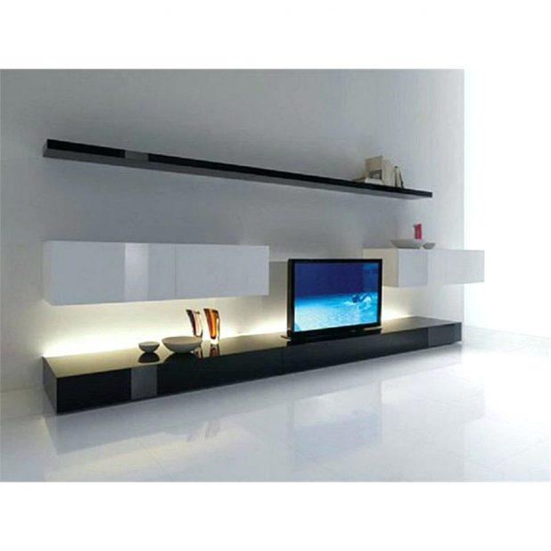Tv Stand : Contemporary Tv Stand Design Ideas For Living Room Pertaining To Current Long White Tv Cabinets (Image 14 of 20)
