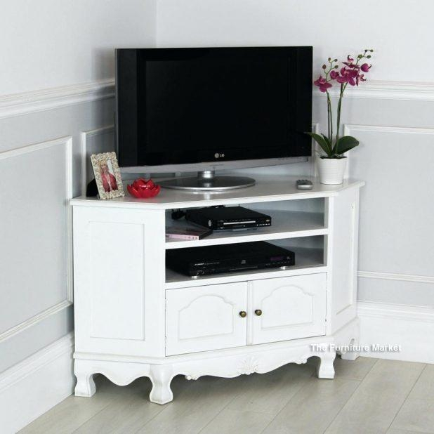 Tv Stand : Contemporary Tv Stands 83 French Chateau White Painted Regarding Most Recent White Painted Tv Cabinets (View 19 of 20)
