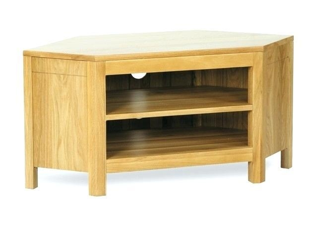 Tv Stand ~ Corner Tv Cabinet Light Oak Torino Solid Oak Low Corner For Most Recent Oak Effect Corner Tv Stand (Image 14 of 20)