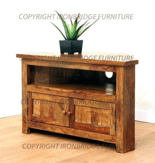 Tv Stand : Corner Tv Cabinet Wooden 26 Rustic Oak Corner Tv Within 2018 100Cm Tv Stands (Image 12 of 20)