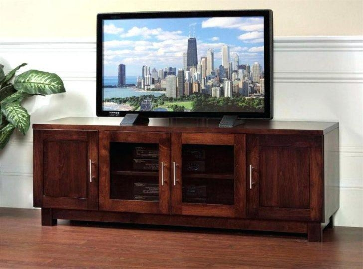 Tv Stand ~ Corner Tv Cabinets For Flat Screens With Doors Tv Regarding  Latest Oak Tv
