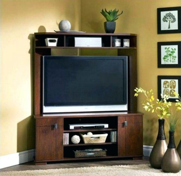 Tv Stand : Corner Tv Console 55 Inch Corner Tv Stand Flat Screen Pertaining To Newest Corner Tv Stands For 55 Inch Tv (Image 17 of 20)