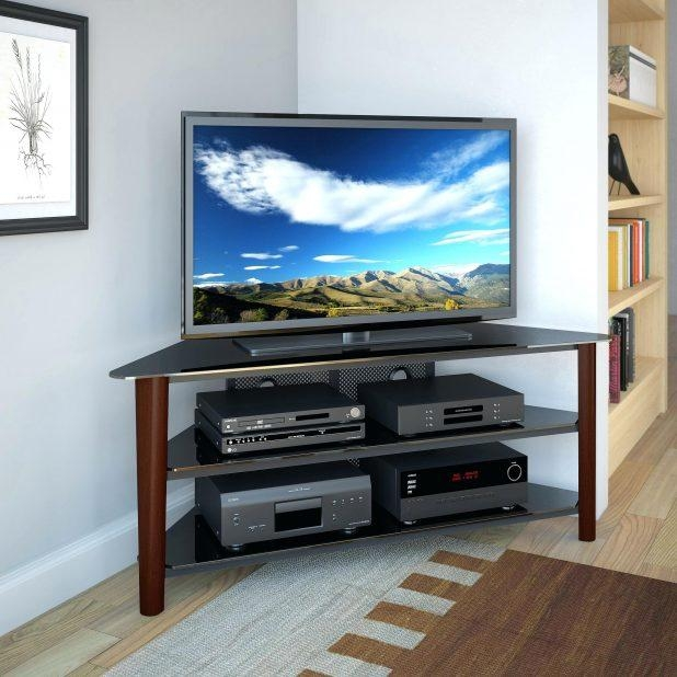 Tv Stand : Corner Tv Console 55 Inch Corner Tv Stand Flat Screen Within Most Current Trendy Tv Stands (View 11 of 20)