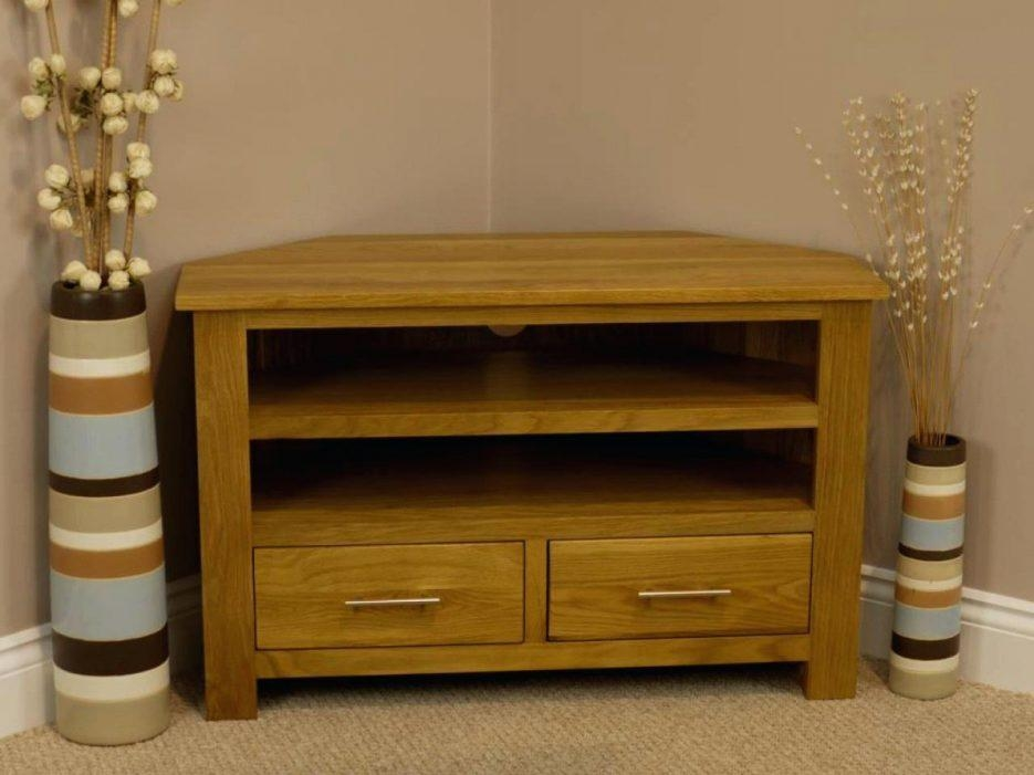 Tv Stand : Corner Tv Stand Corner Tv Stand Tv Stand For Living In Most Recent Chunky Oak Tv Unit (View 8 of 20)