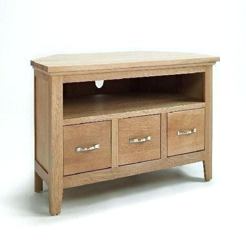 Tv Stand ~ Corner Tv Stand Solid Wood Solid Oak Mission Style With Most Up To Date Small Oak Corner Tv Stands (Image 20 of 20)