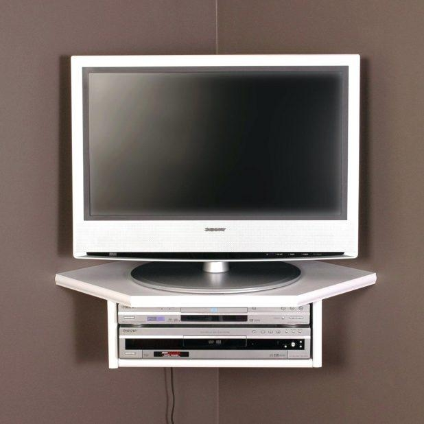 Tv Stand : Corner Wall Tv Stand Mount 1000 Ideas About Tv Corner Inside Latest White Wall Mounted Tv Stands (Image 11 of 20)