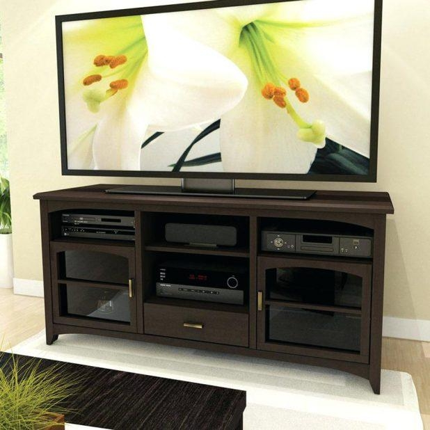 Tv Stand: Cozy Dark Espresso Tv Stand For Home Space (View 10 of 20)