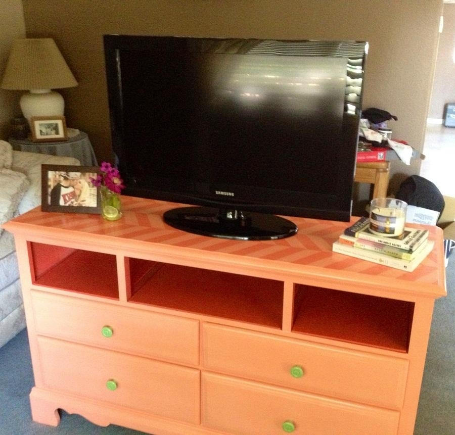 Tv Stand Dresser Orange : Ideas For Make Dresser Tv Stand – Home Within Most Up To Date Orange Tv Stands (View 6 of 20)