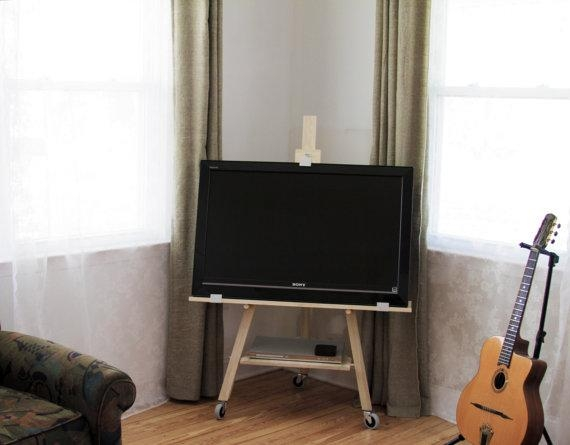 Tv Stand Easel Solid Ash In Best And Newest Easel Tv Stands For Flat Screens (Image 18 of 20)
