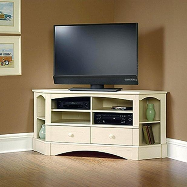 Tv Stand: Ergonomic Corner Console Tv Stand For Room Ideas (Image 17 of 20)