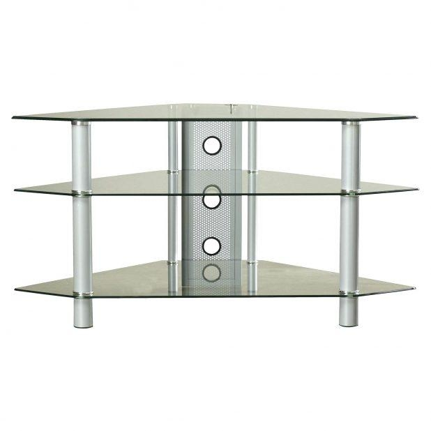 Tv Stand: Ergonomic Silver Corner Tv Stand For Home Space (View 18 of 20)