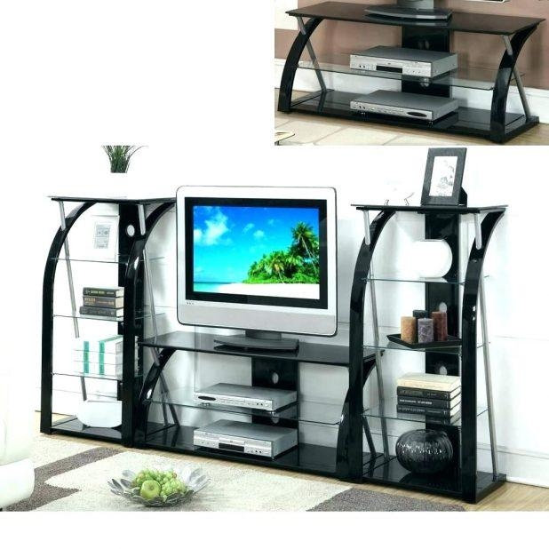 Tv Stand: Ergonomic Silver Corner Tv Stand For Home Space (Image 20 of 20)
