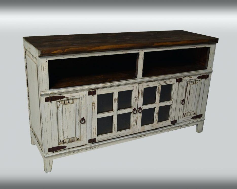 Tv Stand : Farmhouse Tv Console Media Console Rustic Tv Stand Tv With Newest Rustic Tv Cabinets (Image 20 of 20)