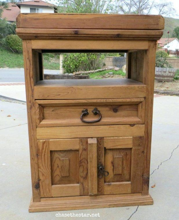 Tv Stand: Fascinating Rustic Red Tv Stand For Living Room (Image 20 of 20)