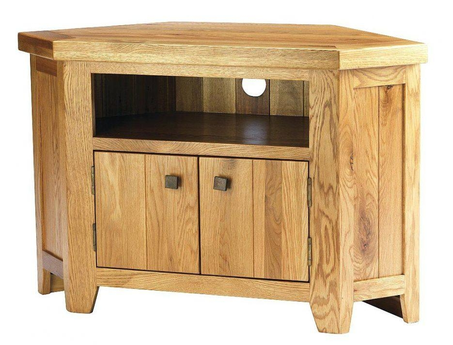 Tv Stand : Fascinating York Solid Oak Chunky Corner Tv Unit throughout 2018 Chunky Oak Tv Unit