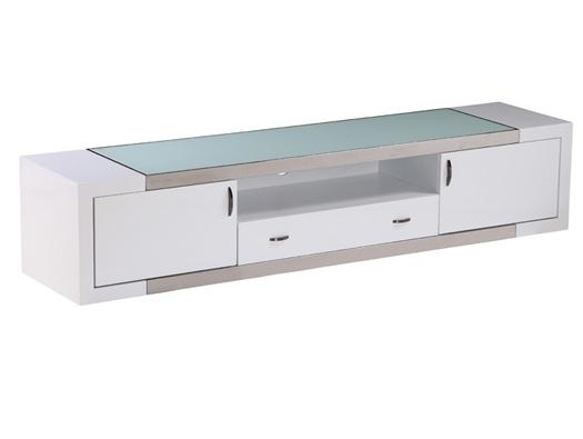 Tv Stand Franco White Inside Most Popular Contemporary White Tv Stands (View 10 of 20)