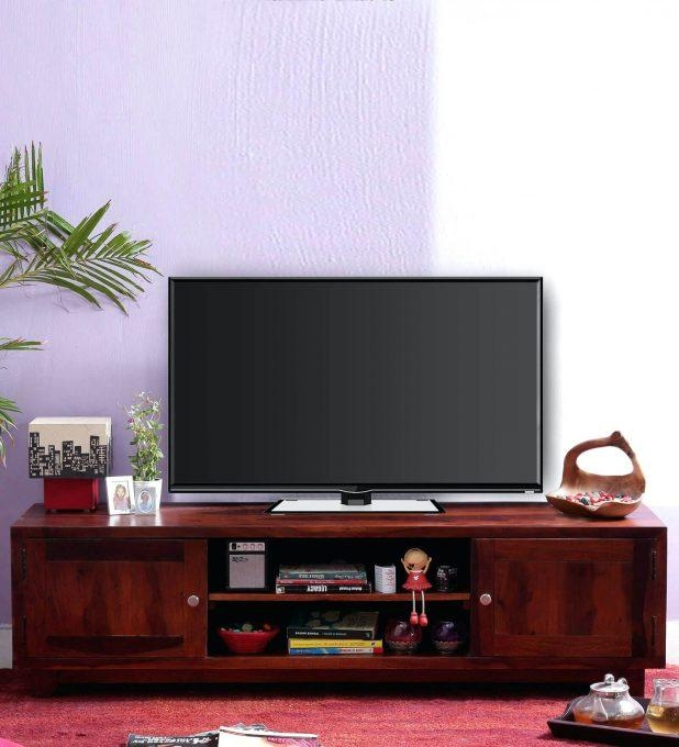 Tv Stand : Furniture Design 60 Cozy Dark Oak Tv Unit Sj027 Dark With 2017 Honey Oak Tv Stands (Image 13 of 20)