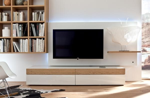 Tv Stand Furniture With Wooden Wall Unithulsta | Home Design Pertaining To Most Recent Tv Stand Wall Units (View 6 of 20)