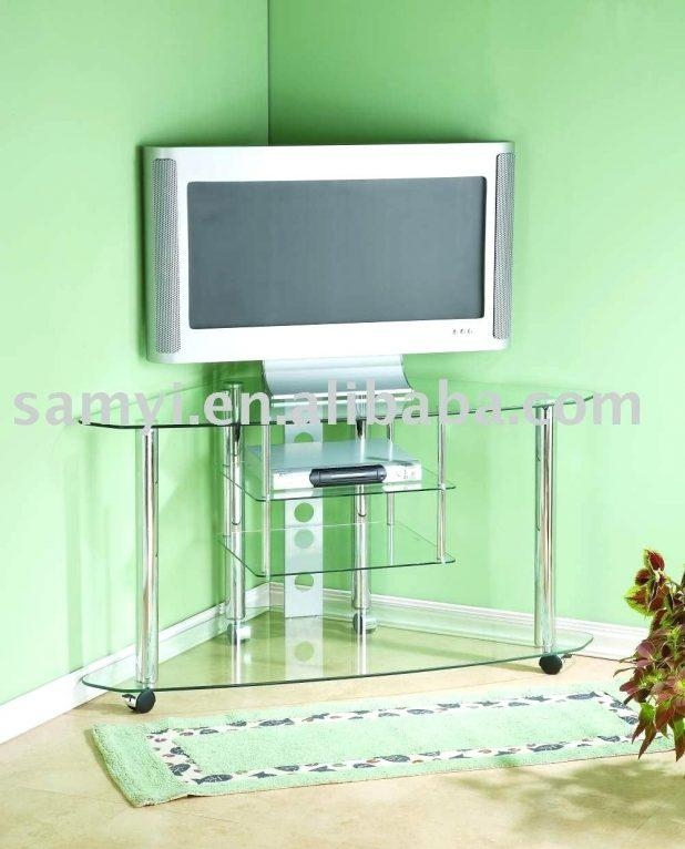 Tv Stand : Glass Corner Tv Stand Glass Corner Tv Stand Suppliers Throughout Recent Techlink Bench Corner Tv Stands (Image 10 of 20)