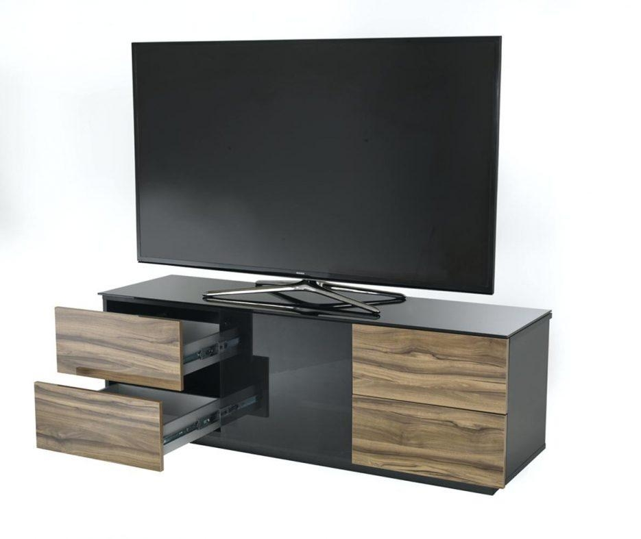 Tv Stand : Glass Door Tv Stand Images Glass Door Interior Doors With Current Shiny Black Tv Stands (Image 17 of 20)