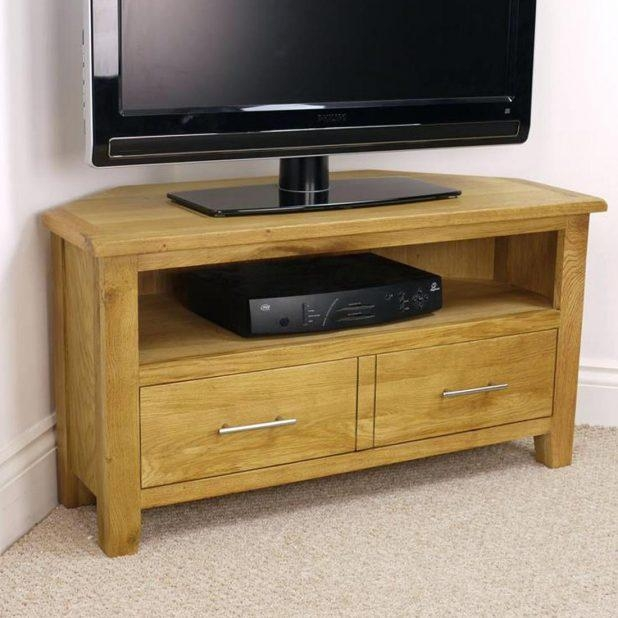 Tv Stand : Gorgeous Nebraska Modern Oak Corner Tv Unit Solid Wood Intended For 2017 Wooden Corner Tv Units (Image 20 of 20)
