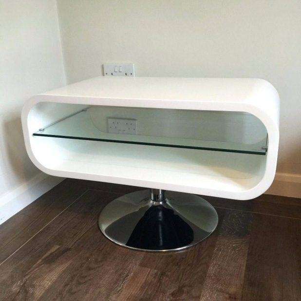 Tv Stand : Gorgeous Techlink Ovid Ov95W Tv Stand Brilliant White With Most Current White Gloss Oval Tv Stands (View 8 of 20)