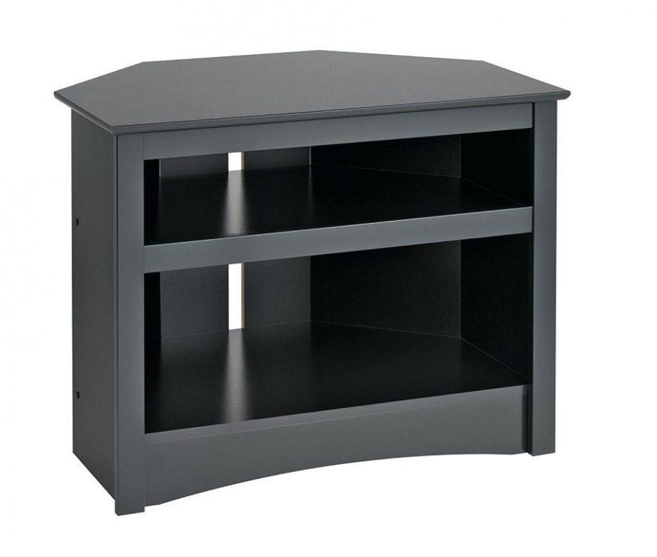 Tv Stand : Gorgeous Videt 42 Corner Tv Stand Dark Taupe Videt 42 Throughout Latest Black Wood Corner Tv Stands (Image 18 of 20)