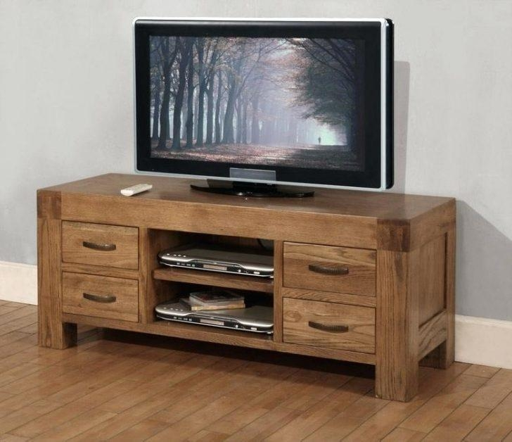 Tv Stand ~ Home Oak Tv Stands 41 To 49 Wide Tv Stands Oak Corner In Recent Oak Tv Cabinets For Flat Screens With Doors (View 7 of 20)