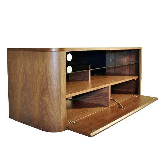 Tv Stand ~ Iconic Walnut Corner Tv Stand For Screens Up To 50 Home Intended For Recent Iconic Tv Stands (Image 16 of 20)