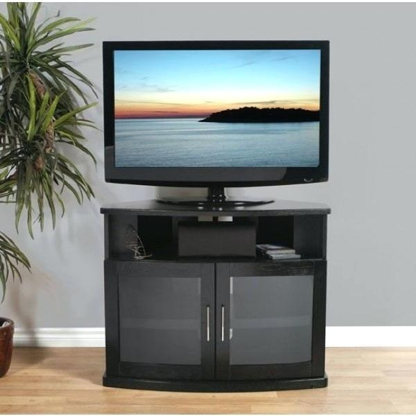 Tv Stand ~ Iconic Walnut Corner Tv Stand For Screens Up To 50 Home Within 2018 Iconic Tv Stands (View 7 of 20)