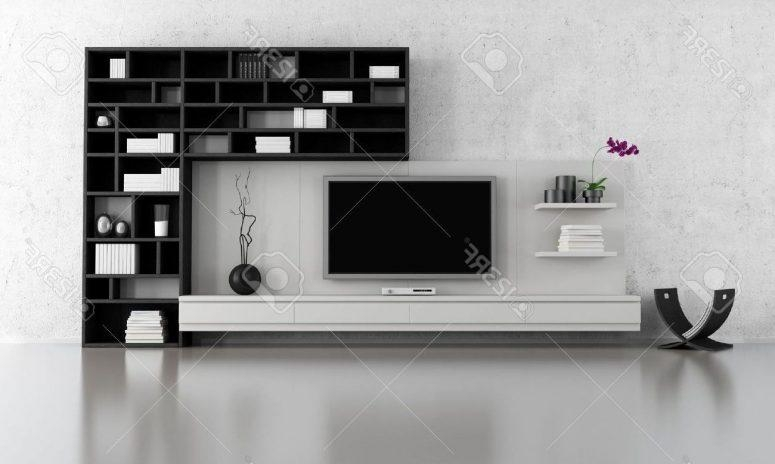 Tv Stand Ideas For Small Spaces White Wood Wall Cabinet Shelves With Regard To Best And Newest Single Tv Stands (Image 19 of 20)