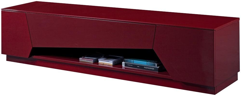 Tv Stand In Bold Red High Gloss With Soft Closing Tracks – $ (View 3 of 20)