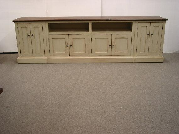 Tv Stand / Long Tv Console / Wood Tv Stand / Media Console In Latest Long Tv Stands Furniture (View 5 of 20)