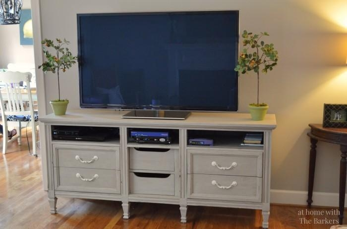 Tv Stand Makeover – At Home With The Barkers With Regard To Newest Painted Tv Stands (Image 19 of 20)