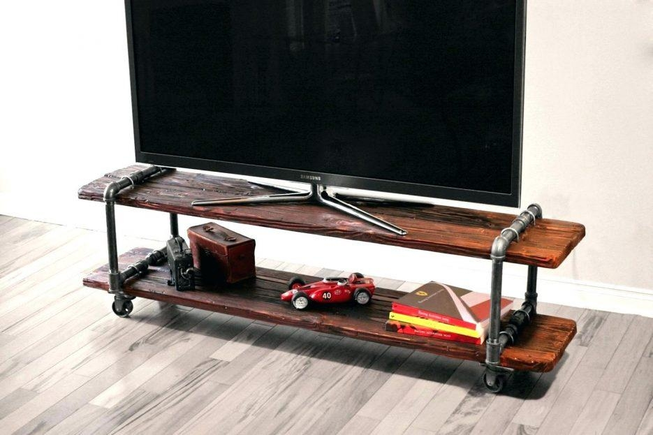 Tv Stand: Mesmerizing Industrial Corner Tv Stand Design (View 11 of 20)