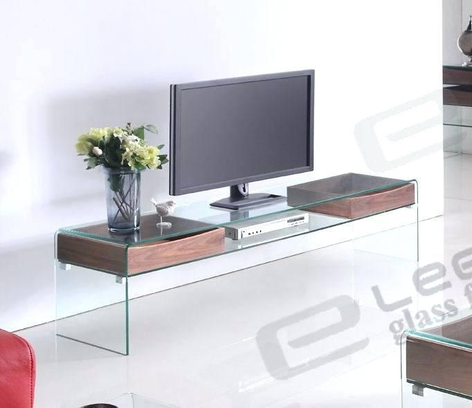 Tv Stand ~ Modern Clear Glass Tv Stand Modern Glass Tv Stands Uk For Best And Newest Modern Glass Tv Stands (Image 18 of 20)