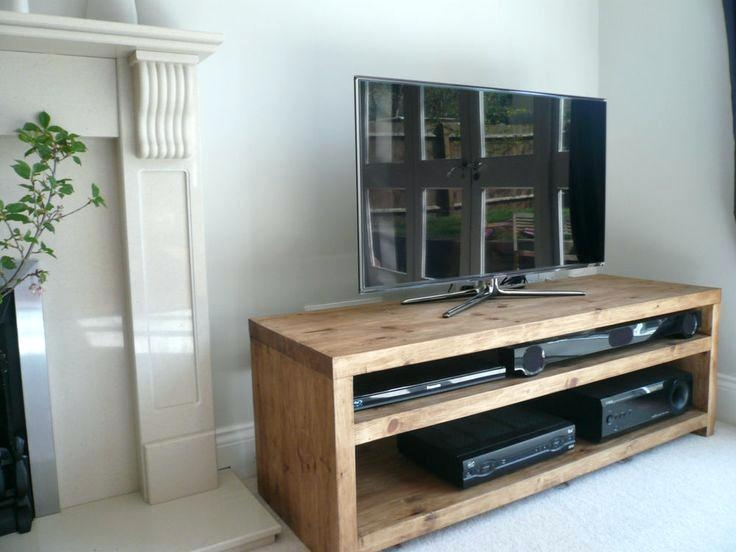 Tv Stand ~ Oak Tv Stand 70 Inch Wood Tv Stand 60 Inch Solid Wood With 2018 Tv Unit 100Cm Width (View 13 of 20)