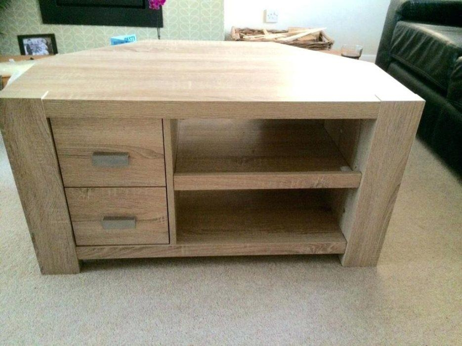 Tv Stand : Outstanding Barrister Lane Salt Oak Storage Inside Most Recent Light Oak Corner Tv Cabinets (Image 15 of 20)