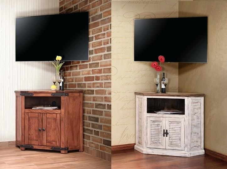 Tv Stand ~ Rustic Pine Corner Tv Cabinet Laredo Rustic Corner Tv Throughout 2017 Rustic Corner Tv Cabinets (Image 19 of 20)