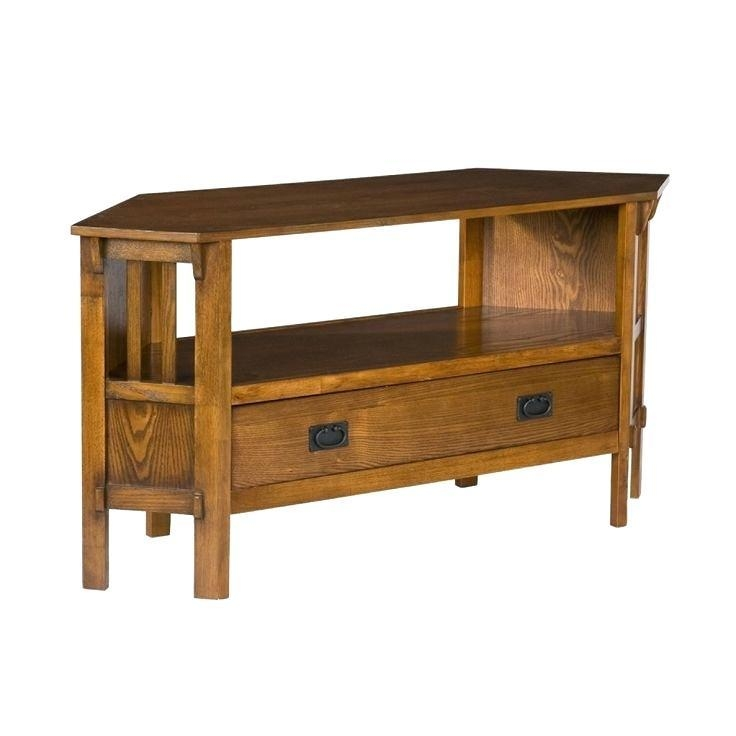 Tv Stand ~ Small Oak Corner Tv Stand Uk Cuba Solid Oak 4 Drawer Tv With Recent Oak Effect Corner Tv Stand (View 8 of 20)