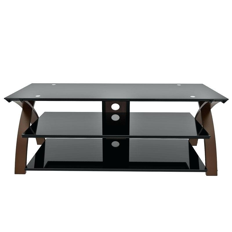 Tv Stand ~ Smoked Glass And Chrome Tv Stand Altra Chrome And Black Throughout Best And Newest Smoked Glass Tv Stands (View 11 of 20)