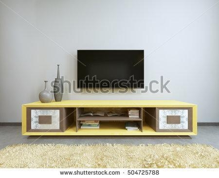 Tv Stand Stock Images, Royalty Free Images & Vectors | Shutterstock With Regard To Recent Tv Table (View 16 of 20)